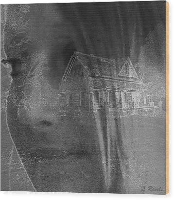 You Cant Go Home Again Wood Print by Leslie Revels Andrews