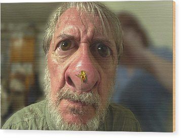 You Have A Bug On Your Nose Wood Print