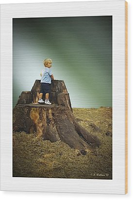 Young Boy Wood Print by Brian Wallace