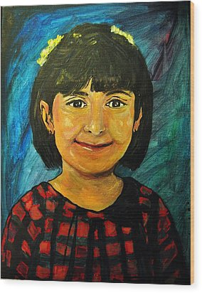 Young Girl 4 Wood Print