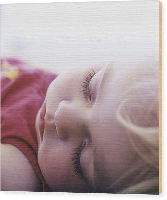 Young Girl Sleeping Wood Print by Cristina Pedrazzini