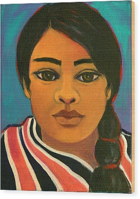 Young Mexican Girl Wood Print
