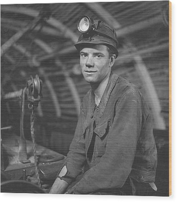 Young Miner Wood Print by John Craven