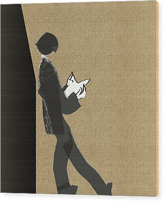 Wood Print featuring the digital art Young Scholar by Asok Mukhopadhyay