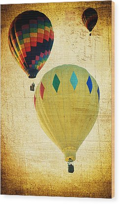Your Balloon Ride Wood Print by James Bethanis