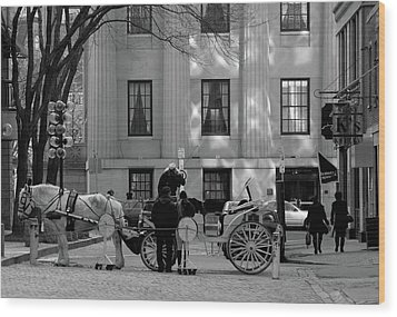 Your Carriage Awaits Wood Print by Kristine Patti