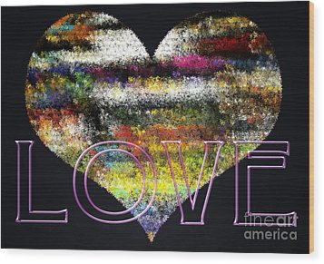 Your Heart Is My Pinata Wood Print by Gwyn Newcombe