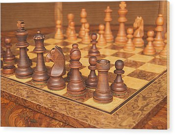 Your Move Wood Print by Graham Hawcroft pixsellpix