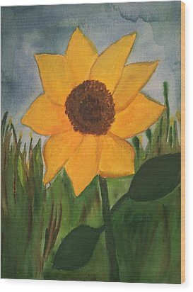 Your Sunflower Wood Print by Cara Surdi