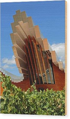 Ysios Winery Spain Wood Print by John Stuart Webbstock