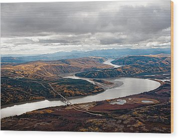 Wood Print featuring the photograph Yukon River Bridge by Gary Rose