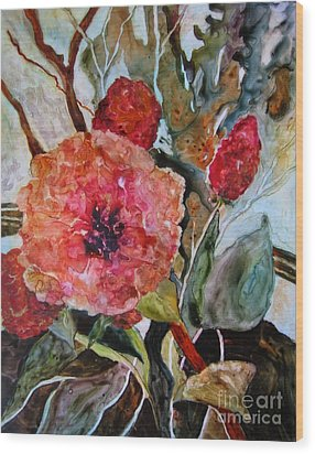Yupo Floral Wood Print