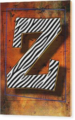 Z Wood Print by Mauro Celotti