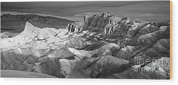 Zabriskie Point Panorama Wood Print by Jim Chamberlain