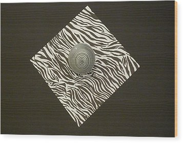 Zebra Square Wood Print