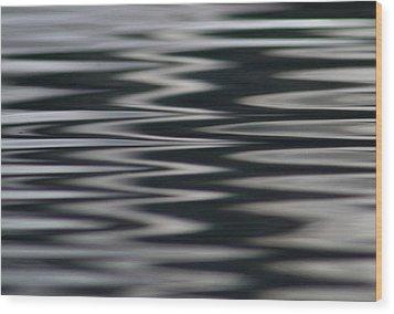 Zebra Waters Wood Print by Cathie Douglas