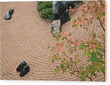Zen Buddhist Meditation Garden No.1 Wood Print by Iuliana Pacso