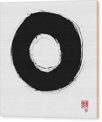 Zen Circle Seven Wood Print by Peter Cutler