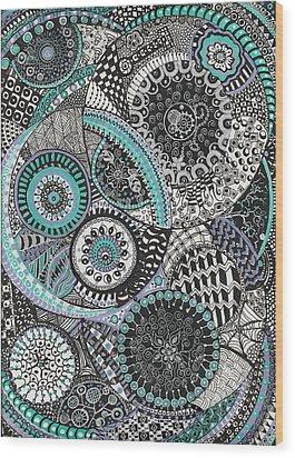 Zentangle Wood Print by Lynne Howard