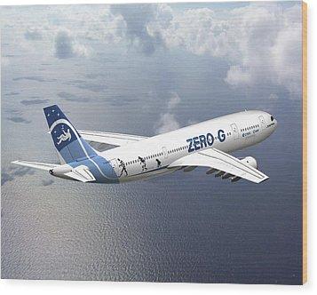 Zero-g Airbus Aircraft, Artwork Wood Print by David Ducros