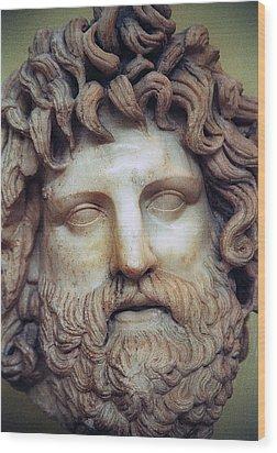 Zeus Head Wood Print by Andonis Katanos