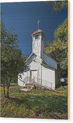 Zion Baptist Church Wood Print by Christopher Holmes