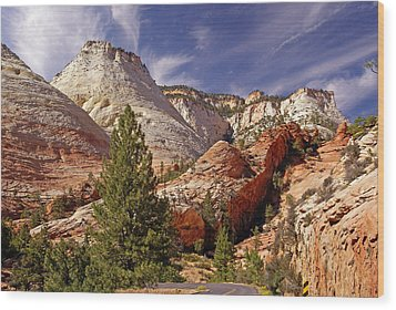 Wood Print featuring the photograph Zion Np by Rod Jones