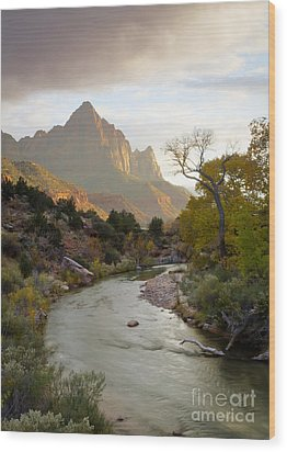 Zion View Wood Print by Idaho Scenic Images Linda Lantzy