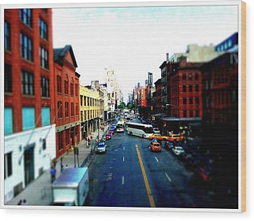 Zip New York Wood Print by Lynn Wohlers