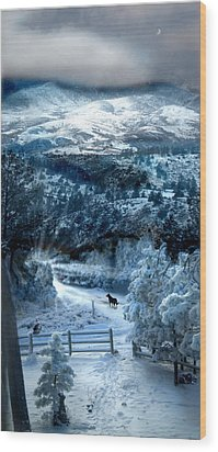 Ziriel's Window Wood Print by Ric Soulen