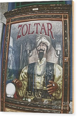 Zoltar The Fortune Teller Wood Print by Gregory Dyer
