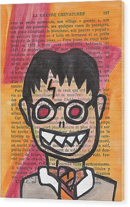 Zombie Harry Potter Wood Print by Jera Sky