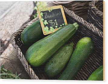 Zucchini Wood Print by Tanya Harrison