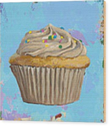 Cupcake #1 Wood Print by David Palmer