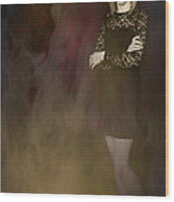 Fantasy Portrait Wood Print by Amanda Elwell