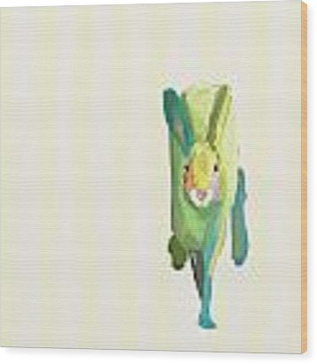 Running Bunny Wood Print