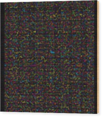 11400 Digits Of Pi Wood Print