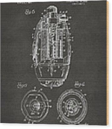 1919 Hand Grenade Patent Artwork - Gray Wood Print