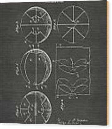 1929 Basketball Patent Artwork - Gray Wood Print
