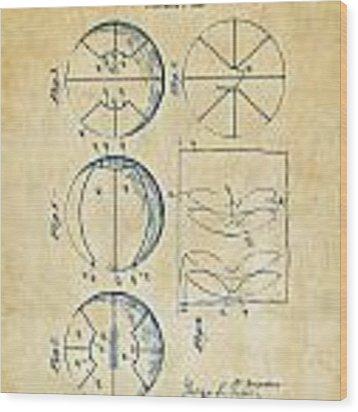 1929 Basketball Patent Artwork - Vintage Wood Print