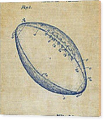 1939 Football Patent Artwork - Vintage Wood Print by Nikki Marie Smith