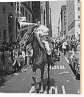 1954 World Series Champions Giants Parade Foghorn Style Wood Print by Retro Images Archive