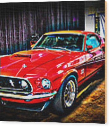 1969 Ford Boss 429 Mustang Wood Print by Gavin Baker