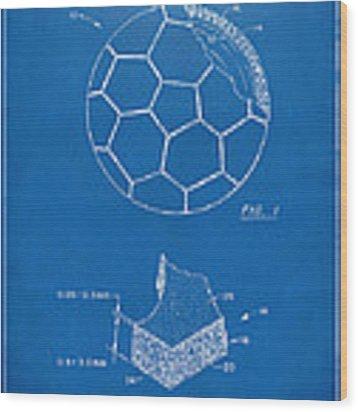 1996 Soccerball Patent Artwork - Blueprint Wood Print by Nikki Marie Smith