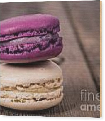 Assorted Macaroons Vintage Wood Print