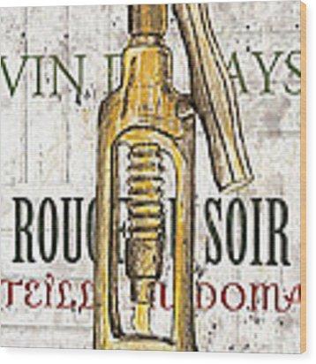 Bordeaux Blanc 1 Wood Print by Debbie DeWitt