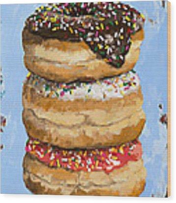 3 Donuts Wood Print by David Palmer