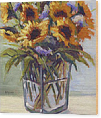Summer Bouquet 4 Wood Print by Konnie Kim