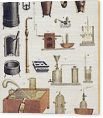Chemistry Equipment, Early 19th Century Wood Print