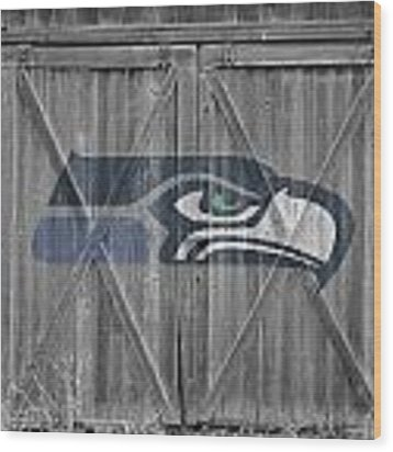 Seattle Seahawks Wood Print by Joe Hamilton